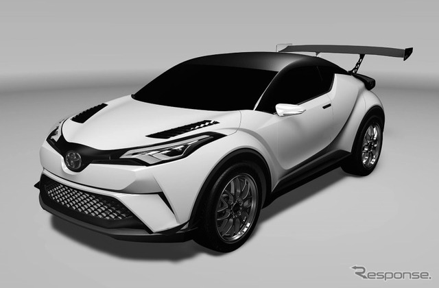 CG image of the Toyota C-HR Racing