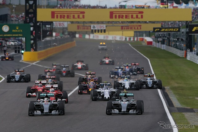 F1 Japan GP 2015 start scene
