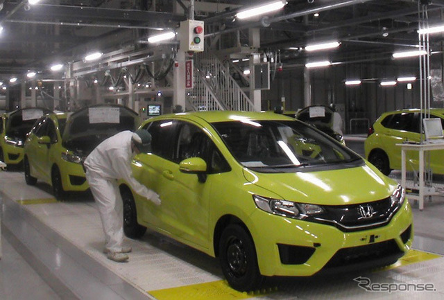 Saitama plant in Yorii Factory Assembly of finished vehicles (the reference image)