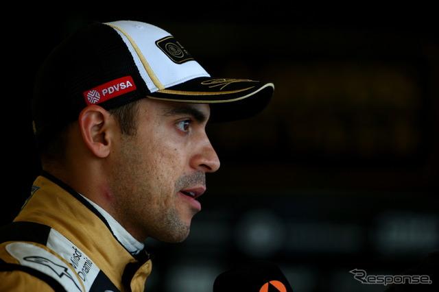 Maldonado had to hurriedly leave Renault F1