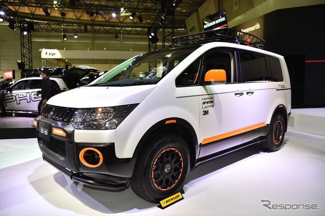 Mitsubishi Delica D:5 outdoor gear concept (Tokyo Auto Salon 16)