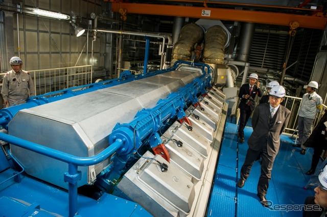 Start the steam supply to the j-oil mills, Yokohama plant from Nissan Yokohama plant