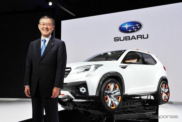 Subaru Yoshinaga, President (Tokyo Motor Show 15)