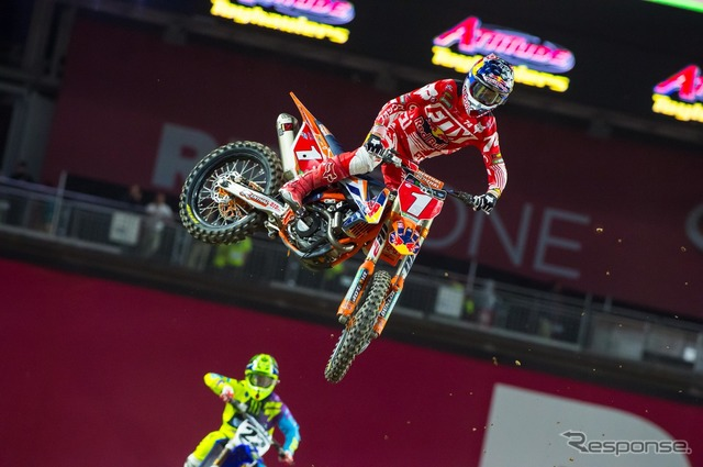 After finishing in second place, and in hot pursuit of late at the start of R... Dungy (KTM)