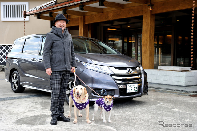 Honda Odyssey hybrid to ride the dog. Private goods to comfortable pet travel