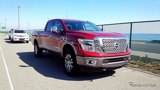 """Nissan's North American full-size pickup """"TITAN XD"""" (Titan) At Allstate in March took place in oiso Nissan Nissan light commercial vehicles (LCV) published"""