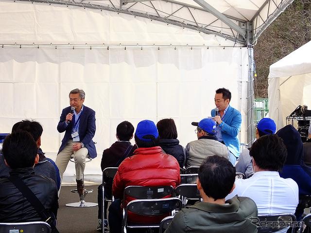 3/27 Subaru fan meeting, dry retention Mr. Subaru BRZ development officer and talk session by Mr. Manabu journalist and the mouth was made (Sano city, Tochigi Pref., Subaru research test center