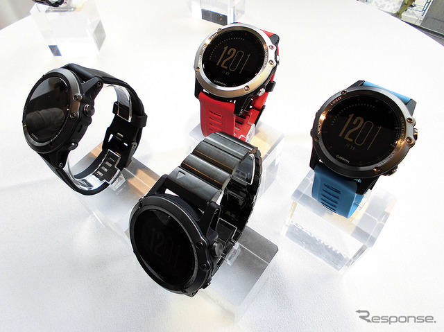 "Premium model for multi sport GPS Smart Watch ""fenix 3 J Sapphire Titanium"" and showed off the new vivofit 3 active Trac King features with fitness bands, vivoactive HR J G"