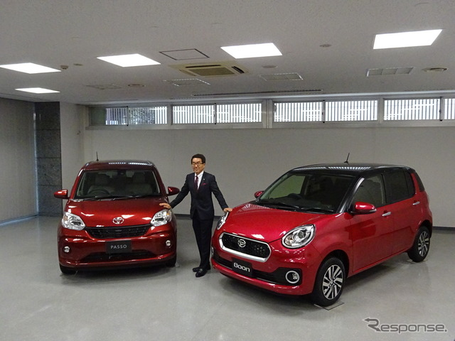 T. Ueda, Daihatsu senior executive officers and the Passo/boon