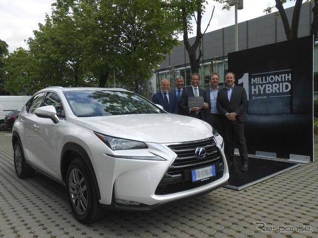 Ceremony to commemorate delivery of Lexus' one-millionth hybrid (NX300h)