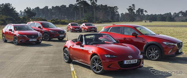 Mazda's lineup for the UK