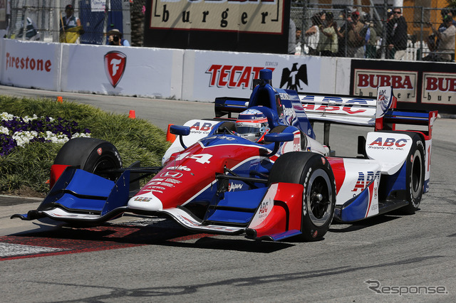 Enter the final fifth and Takuma Sato # 14 positive start in long beach