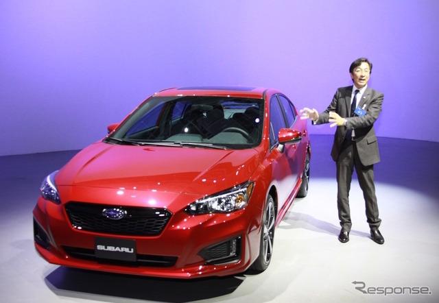 Subaru Impreza new and product planning Division, design Director of Mamoru Ishii