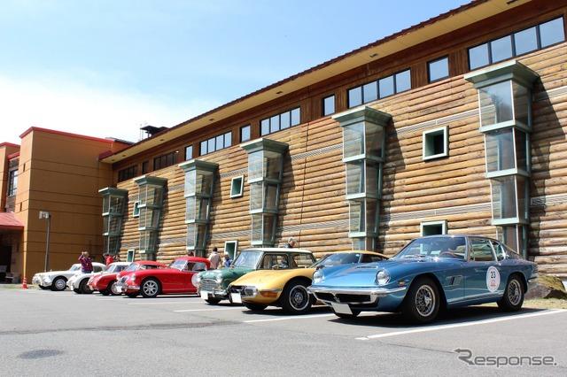 Right from Maserati Mistral Toyota 2000 GT, Fiat Abarth 750 GT Zagato, Austin minicooper S Mk1, MGA, Austin he RASP light Mk1, MGA