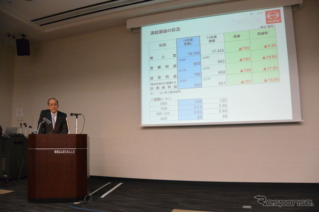 Hino Motors hasil keuangan konferensi