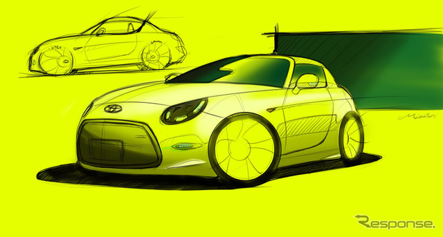 Rendering sketch of the Toyota S-FR