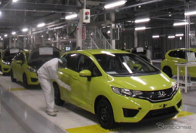 Finishing line at Honda's Yorii plant (reference image)