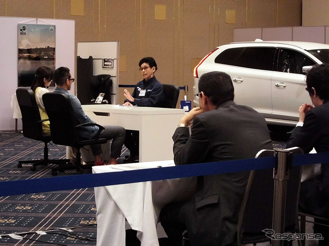 Volvo training center, Toyohashi (Toyohashi-Shi, Aichi), a 4/27 two days after sales skills competition was conducted (VISTA)