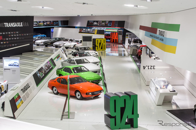 """Porsche Museum special exhibition """"era of the transaxle From 924 to 928."""