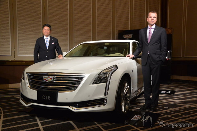 Cadillac CT6 Uwe Kiyoshi who President of GM Japan stone (pictured left) and Cadillac, ellinghaus CMO (pictured right)