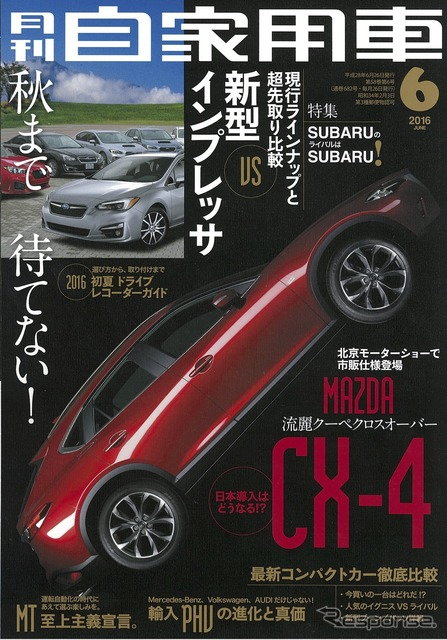 June issue of monthly private car in 2016.