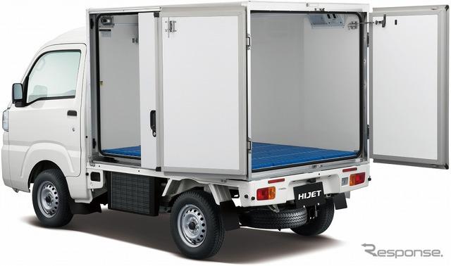 Daihatsu hijet truck colored inside temperature refrigerator car