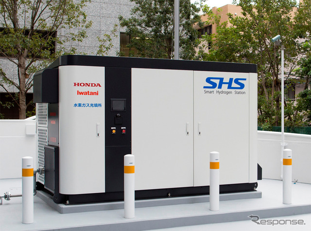 Honda Smart Hydrogen Station at Aoyama headquarters