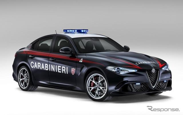 Alfa Romeo Giulia Italy police deployed in new condominiums