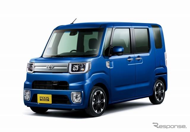 Toyota Pixis Mega G Turbo SAII Leisure Edition SAII (2WD) (Blue Mica Metallic)