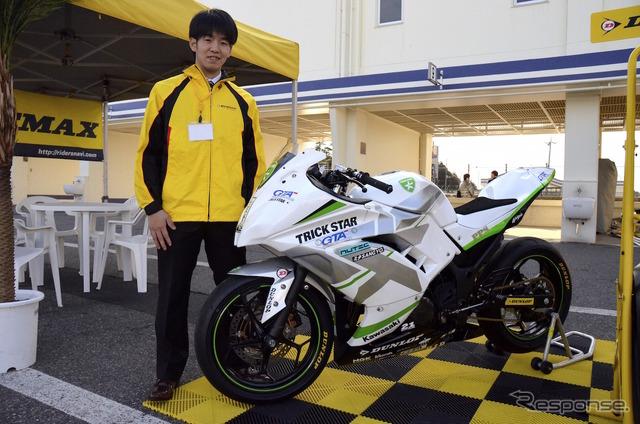 Asian road Championships Asia production 250cc class champion Yamamoto Takeshi big players
