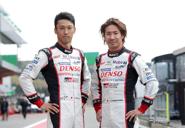 Fighting WEC at Toyota Kazuki Nakajima and Kamui Kobayashi