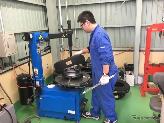 Ishinomaki Senshu University do tire changes in student improvement projects for spring students