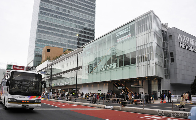 Busta Shinjuku bus terminal opened in April, Japan's largest