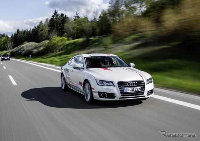 Audi's latest Automatic driving test car Jack