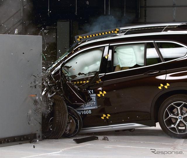 New BMW x 1 us IIHS crash test