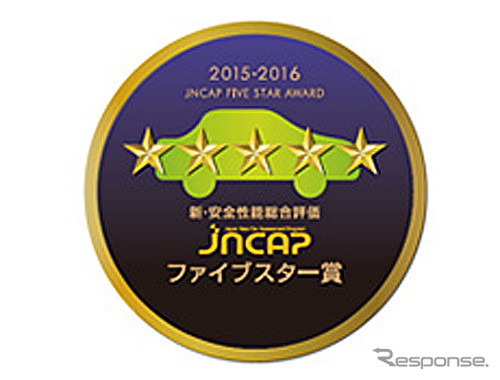 2015 JNCAP automobile assessment new and safe performance overall rating five star award