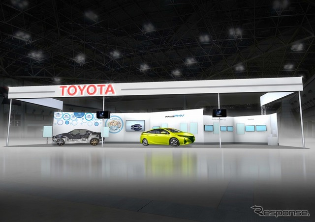 Exterior of Toyota Booth