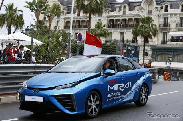 Toyota MIRAI was used in the opening lap of the Monaco Grand Prix F1
