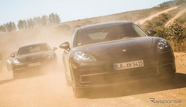 การเนอ Porsche Panamera พัฒนารถต้นแบบ