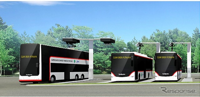 Large-sized double-decker bus EV (image)