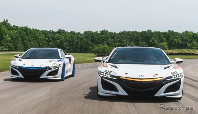 Acura (Honda) NSX's new Pikes Peak international Hillclimb race vehicles (the reference image)