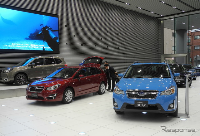 Subaru cars (photo Subaru showroom)