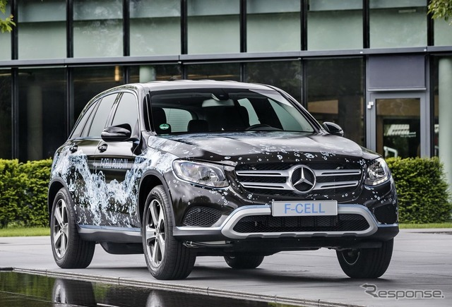 The Mercedes-Benz GLC f-cell prototype car