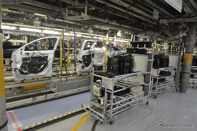 Mazda factory assembly line
