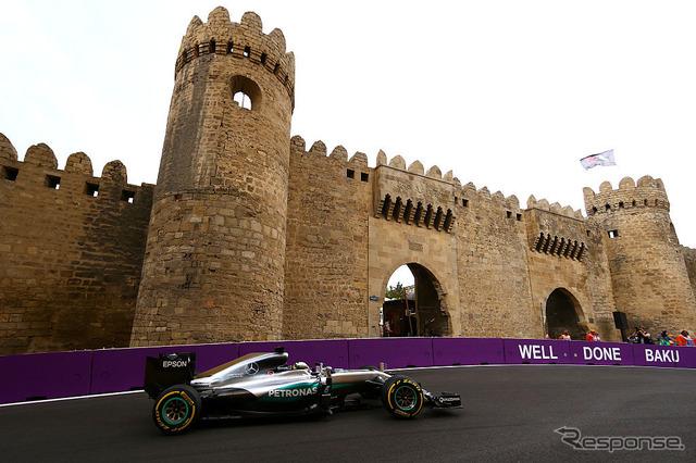 2016F1 European GP (Azerbaijan)-free practice