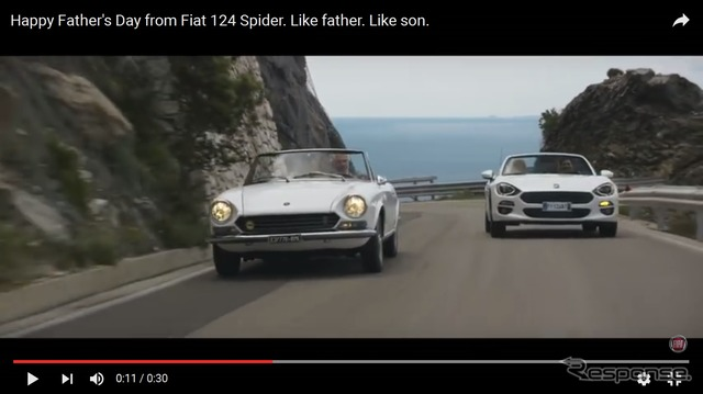 Fiat old 124 spider for father's day video