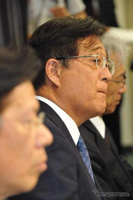 Ministry of land, infrastructure and transport, Mitsubishi Motors sought correction of the fuel economy values (picture Mitsubishi Osamu Masuko, Chairman)