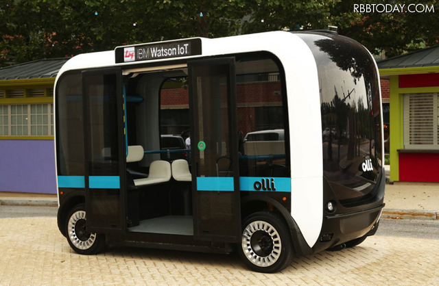 """With the artificial intelligence of the IBM Watson! 3D printer made by automatic driving bus """"Olli"""" appeared"""