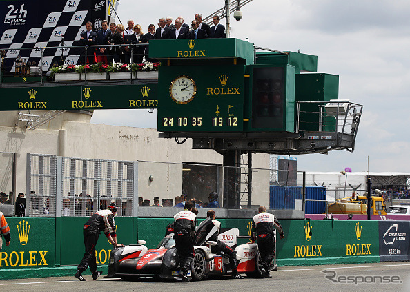 Remaining 5 Toyota car 3 minutes, stopped at the right (Le Mans 24-hour endurance race 2016)