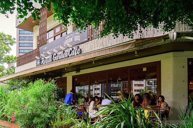 For a limited time in one corner of the shrine outer garden Ginkgo trees, Royal Garden cafés Aoyama shop (6/23-7/24) in URBAN BBQ cafe to expand Enjoy BBQ boom in United States urban areas